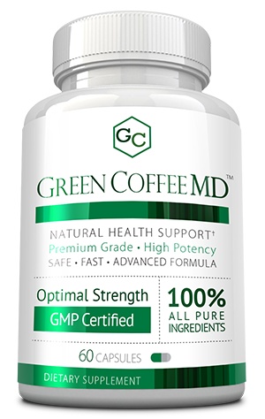 Green Coffee MD ingredients bottle