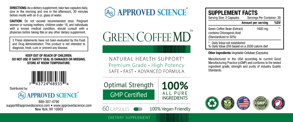 Green Coffee MD Supplement Facts